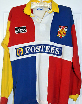 London Broncos Rugby League shirt (vintage) Asics