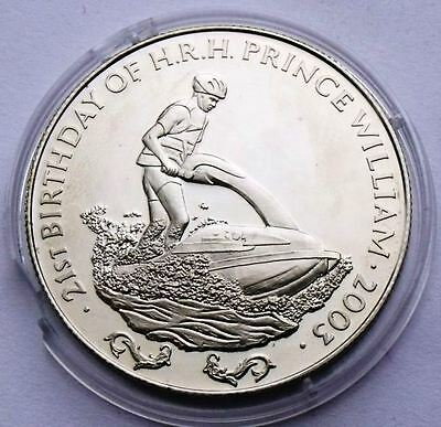 ZAMBIA 1000 KWACHA 2003 PRINCE WILLIAM ON JET SKI BU IN CAPSULE 38.6mm CROWN