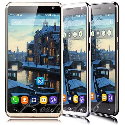 """Unlocked 5.5"""" Quad Core Mobile Cell Phone Dual SIM GPS Android Smartphone WIFI"""