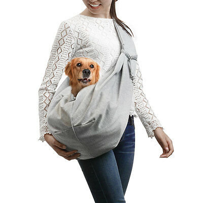 Reversible Pet Sling Carrier Bag for Small Dog Cat Safe Tote Double-sided Pouch