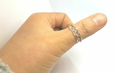 Solid Sterling Silver Double Wire Thumb Band Silver Adjustable Ring Rings