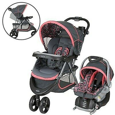 Baby Strollers Travel System Car Seat Infant Seat Boy Girl Toddler Cup Holders