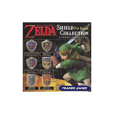 The Legend of Zelda Shield Pin Badge COMPLETE COLLECTION (x6) NINTENDO JAPAN