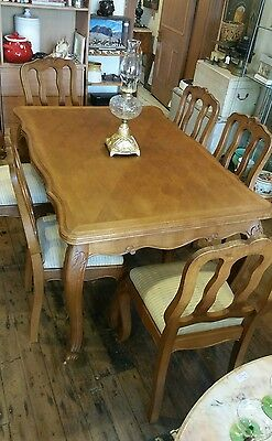Table France Oak Extension French Provincial Style Antique