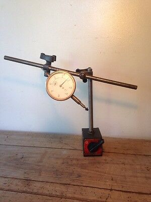 Vintage Eclipse Magnetic Tripod Dial Gauge Stand Engineers Tool