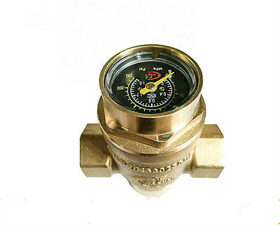 Water Pressure Regulator Valves With Pressure Gauge Pressure Maintaining Valve