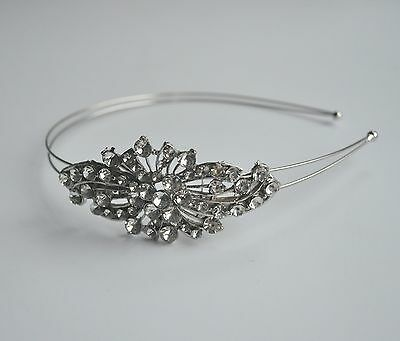 Vintage look  clear crystal diamante hair band/Alice band/Head band. Wedding