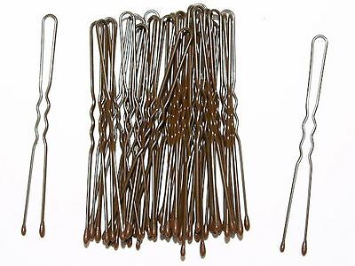 4.5cm Short Brown Waved Hair Pins Bobby Pins Grips  Hair Accessories UK