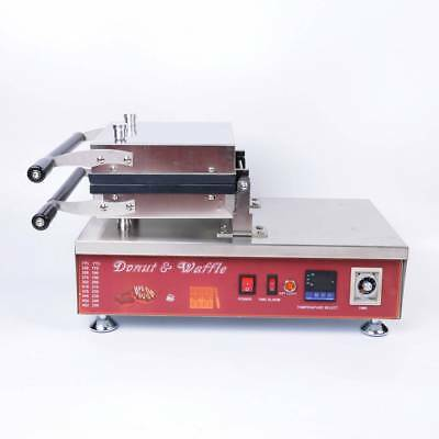 STON 110V Commercial Nonstick Electric Donut Machine Fryer Digital Mould Making