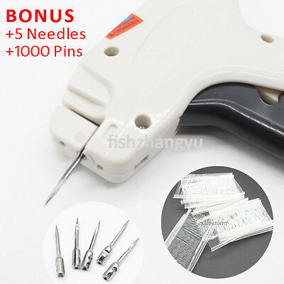 Clothes Garment Price Label Tagging Tags Gun Machine +5 Steel Needle +1000 Barbs