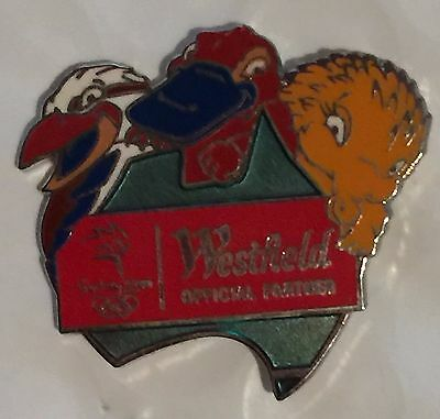 Sydney 2000 Olympic pins - Westfield Mascots and Map of Australia Pin