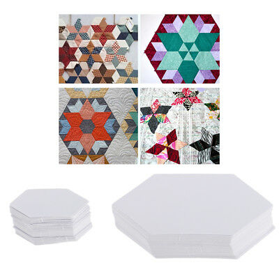 200x Hexagon Paper Quilt Template English Paper Piecing Patchwork 4.2/7.9cm