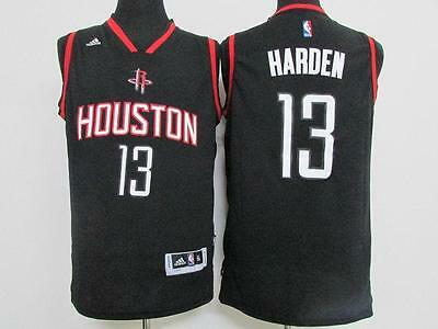 Houston Rockets 13# James Harden Embroidery Black Basketball Jersey S - XXL