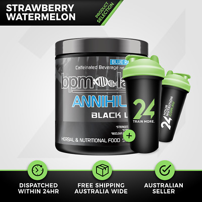 BPM Labs Annihilate Annihilate Black Label | 50 Serve Sberry Wmelon Thermogenic