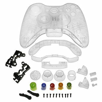 Crystal Shell Compatible with Microsoft Xbox 360 Wireless Controller , Clea O6N8