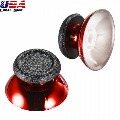 2 Pcs Chrome Red Repair Parts Controller Analog Thumbsticks for PS4 Slim Pro New