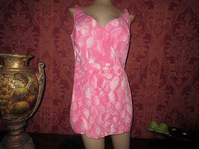 Vtg Roxanne Bombshell Bathing Suit Bullet Bra Romper Swimming Suit Swimwear 40