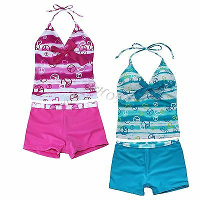 Girls Kid One Piece Bikini Swimsuit Swimwear Bathers Swimmers Beachwear Tankini