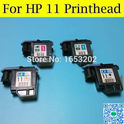 Genuine HP 11- 4 x têtes d'impression HP C4810A C4811A C4812A C4813A