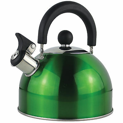 Yellowstone 2L Metal Whistle Kettle - Green