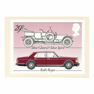 SILVER GHOST and SILVER SPIRIT ROLLS-ROYCE - BRITISH MOTOR CARS PHQ 63 POSTCARD