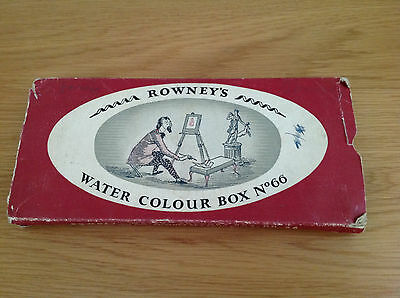 Vintage George Rowney & Co ~  water colour box No 66