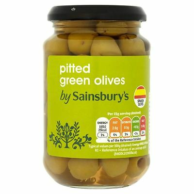 Sainsbury's Pitted Green Olives 350g