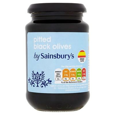 Sainsbury's Pitted Black Olives 350g
