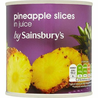 Sainsbury's Pineapple Slices in Natural Juice 432g