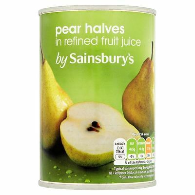 Sainsbury's Pear Halves In Fruit Juice 411g