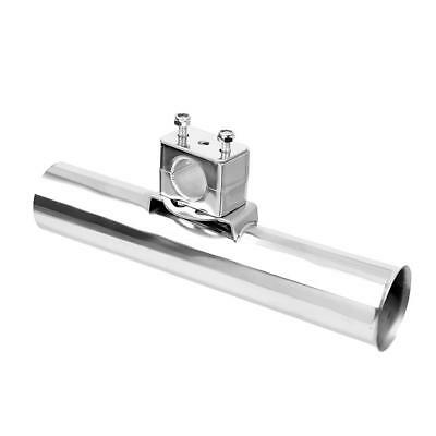 "Stainless Clamp On Fishing Rod Holder -- Rails 7/8"" to 1"" Rail Mount Holder"