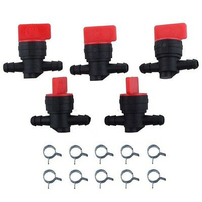 "5 1/4"" Inline Straight Fuel Gas Shut-Cut-Off  Valves  Motorcycle Petcock Clamps"