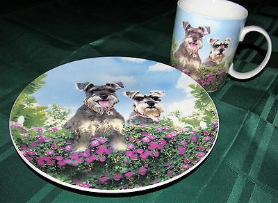 Terrier Dog LoversBlossom Coffee Mug Schnauzer Cup Collectible