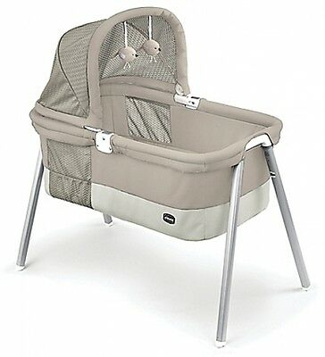 Lullago Deluxe Travel Crib Taupe Baby Carrying Versatile Bassinet Fabric Pad