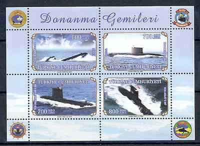 Turkey - Souvenir Sheet 2004 MNH** Submarines