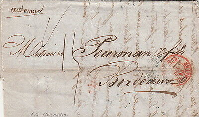 Lettre Montevideo Outre Mer Le Havre 1846 Cover Brief Uruguay