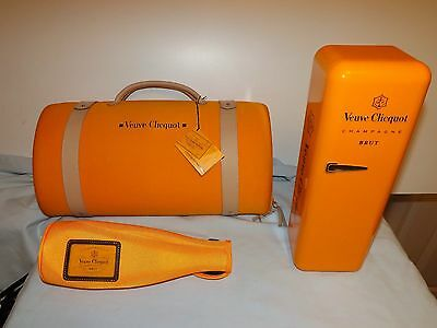 Veuve Clicquot BRUT Champagne Collectable Traveller Insulator & Bottle Coolers