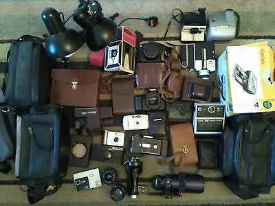 Large Collection Vintage Photographic Photography Camera Equipment