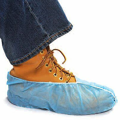 100 DISPOSABLE SHOE COVERS NON-SKID BOOTIES WORKERS AND REALTORS/XL 4 To Size 16