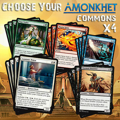 Choose Your Amonkhet Common Playset (x4 cards) - AKH MTG M/NM