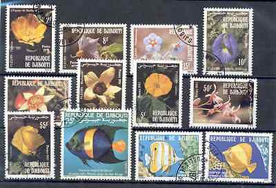 Djibouti - Lot of Stamps Year 1978 - 1983