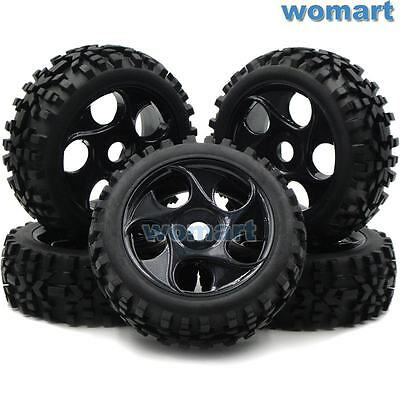 5 Stück 1/8 RC Off Road Buggy Tires Reifen Felge for Losi HPI XTR Badlands Car