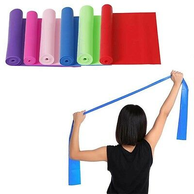 New 1.5m Yoga Pilates Stretch Resistance Band Exercise Training Elastic Exercise