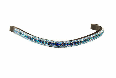 Equiture Bermuda Blue and Aqua Curve Browband