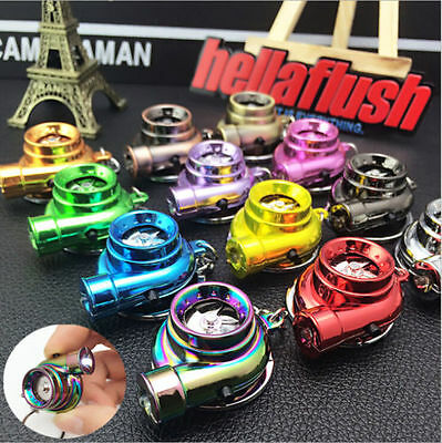LED Electronic Turbo Keychain Sleeve Spinning Turbine With Sound Key Chain Gifts