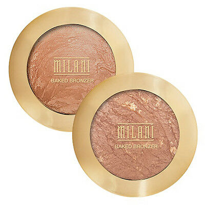 MILANI Makeup ~ Baked Powder BRONZER - Radiance - Eyes+Face+Body Bronze Glow