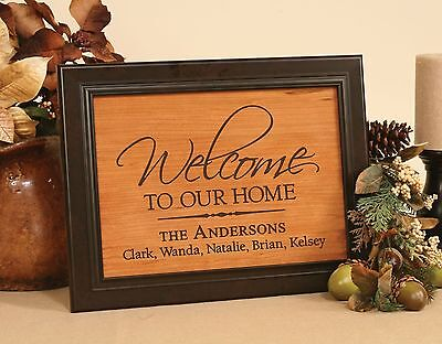 Personalized Laser Engraved Framed Cherry Plaque Recognition/Wedding/Anniversary