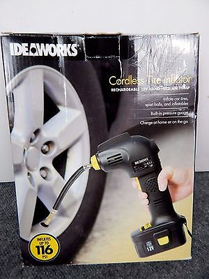 IDEAWORKS 12-Volt 116-PSI Cordless Rechargeable Tire Inflator JB7607
