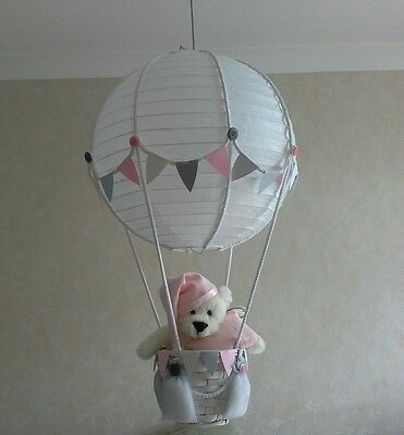 Baby's First  Bear in Hot Air Balloon Light shade     Made to order