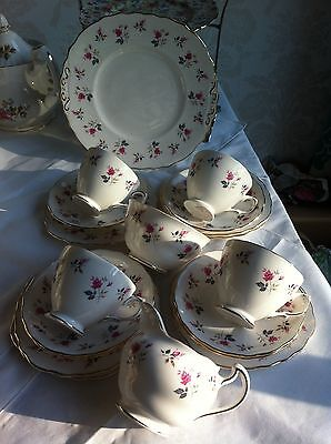 Royal Osbourne fine bone china tea set! Stunning.